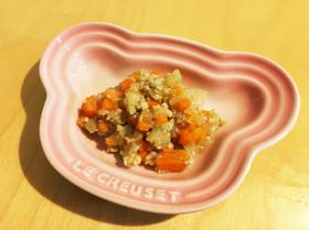 鶏挽肉と野菜の味噌炒め煮★離乳食後期