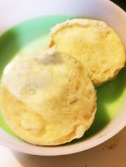レンジで米粉のバナナ蒸しパンの写真