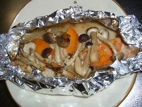 ごまドレで、簡単鮭のホイル焼き♪
