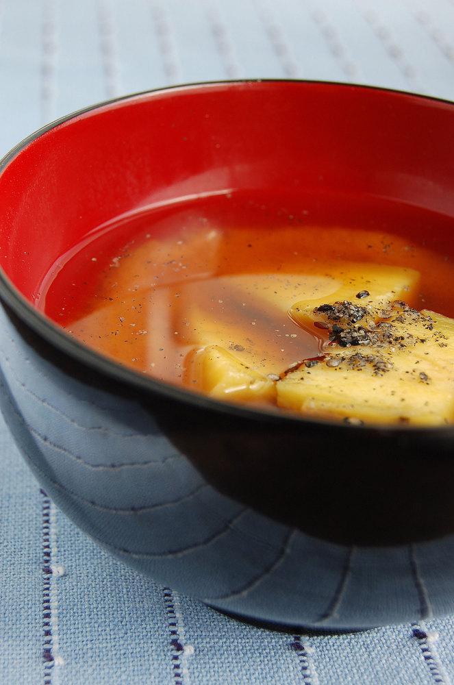 石焼き芋のお味噌汁