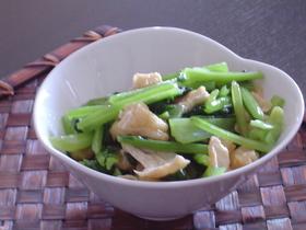 簡単副菜:小松菜と油あげの炒め物