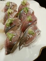 小鯵のにぎり寿司の写真
