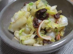 レーズン入り白菜サラダ