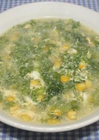 簡単うまい☆乾燥あおさで中華たまごスープ