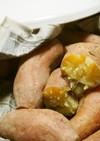 タジン鍋に新聞紙と水100㏄で焼き芋