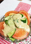 簡単美味しい水菜とレタスとトマトのサラダ