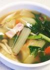 苦手克服♡セロリと青パパイヤの簡単スープ