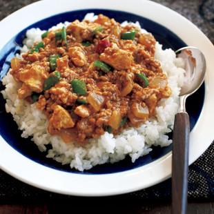 ふわふわ豆腐キーマカレー