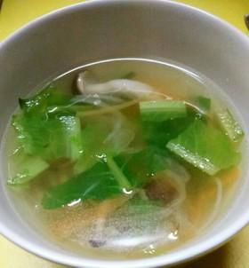 ロメインレタス しめじ のスープ♡