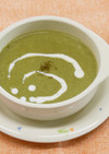 ブロッコリーと小松菜のポタージュ