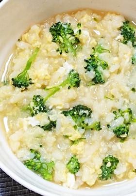 卵とブロッコリーの雑炊