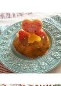 わんちゃんのケーキ 夏バージョン