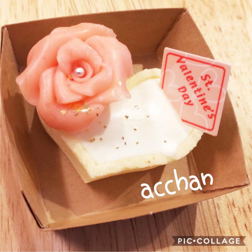 バレンタイン♡レアチーズケーキタルト
