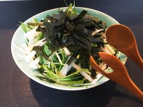 糖質制限♪水菜と大根のしゃきしゃきサラダ