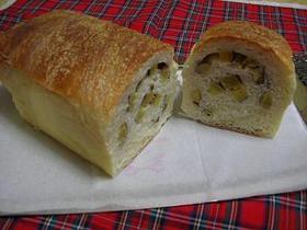 基本のパン生地でさつま芋ロール食パン