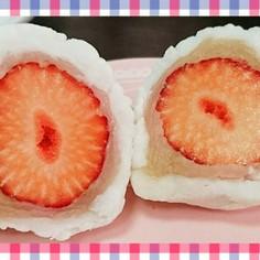 白あんのイチゴ大福