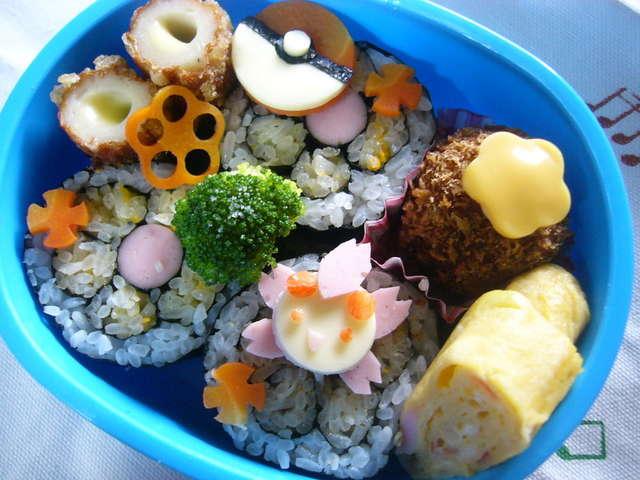 チェリムのお花巻き寿司キャラ弁