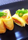 フライパンで簡単お弁当用♡明太だし巻き卵