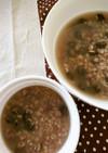炊飯器de黒豆と小豆の食べる玄米スープ♪