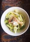 白菜と生ハムのペペロンチーノサラダ