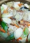 寒い日白菜としょうが味ふわふわ肉団子の鍋