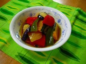 野菜の素揚げマリネ