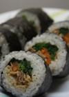 節分の恵方巻☆巻き寿司☆肉と野菜入り