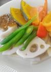 カラフル野菜の梅バター添え