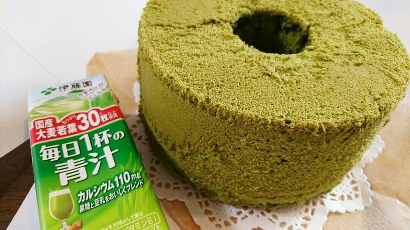 抹茶青汁シフォンケーキ