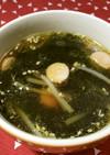美人レシピ・ウインナーとわかめのスープ