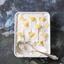 白桃のヨーグルトケーキ