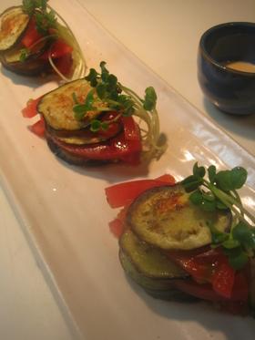 茄子とトマトのミルフィーユ
