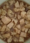 レンジで簡単  鶏皮の甘辛煮