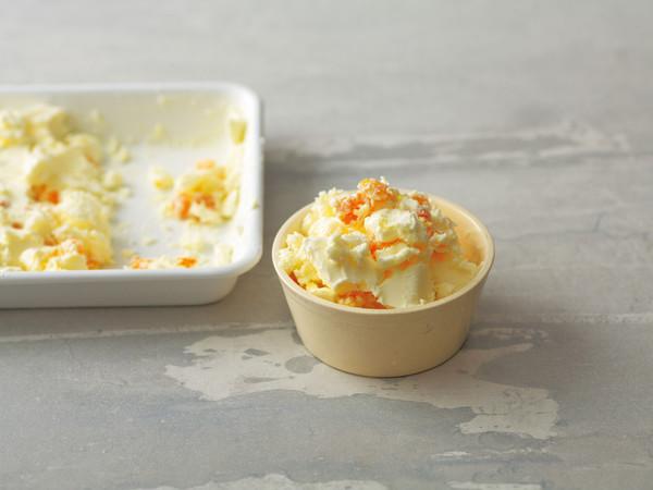 アプリコットとマスカルポーネのアイスクリーム