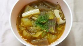 温か♪白菜 きのこと蒟蒻の洋風*ソース煮