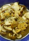 鶏ささみと きのこのコンソメ醤油スープ♡