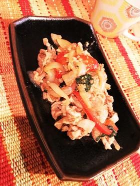 酢生姜と焼肉のたれで豚の生姜焼き