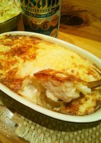 鶏肉と長芋のチーズグラタン