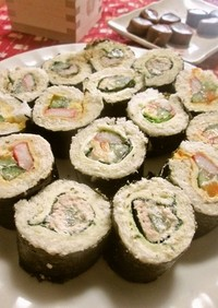 パンで色々巻き寿司