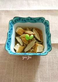 ヘルシー♪厚揚げと糸蒟蒻と椎茸の煮物!