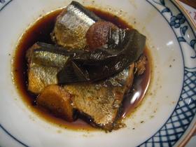 さんまの黒酢煮
