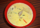 カボチャの豆乳みそ汁★根野菜をたっぷり♪