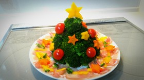 クリスマス ツリー ポテトサラダ