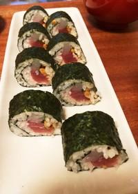 マグロイカ納豆巻き寿司
