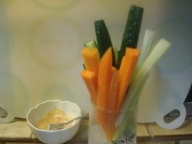 味噌マヨで 野菜スティック