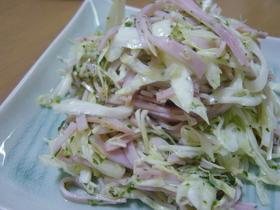 簡単☆キャベツのバジルサラダ