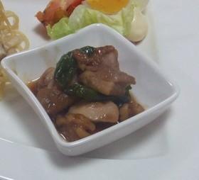 鶏肉とピーマンとナッツで中華風生姜あん