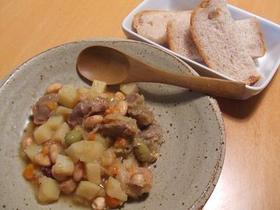 豆と野菜とお肉の煮込み~♪