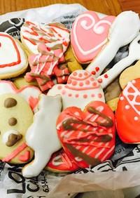 卵白と粉砂糖でアイシングクッキー☆