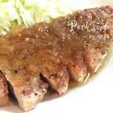 厚切り豚ロースガーリックジンジャーソテー